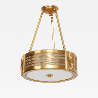 David Duncan The Swirl Pendant Light in Brass by David Duncan