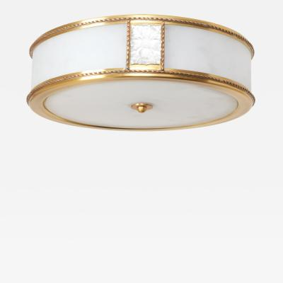 David Duncan The Victoire Flush Mount in Brass by David Duncan