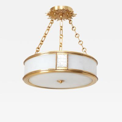 David Duncan The Victoire Pendant Light in Brass