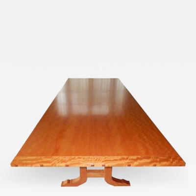 David Ebner David N Ebner Makore Wood Dining Room or Conference Table