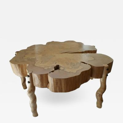David Ebner David N Ebner Spalted Maple Wood and Sassafras Coffee Table