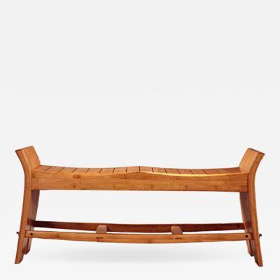 David Ebner David N Ebner Studio Craft Artist Slatted Bamboo Bench