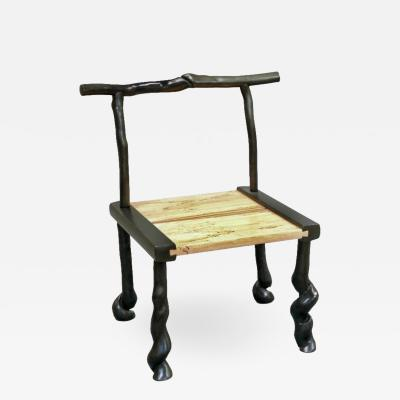 David Ebner David N Ebner Studio Craftsman Sassafras Wood Book Chair