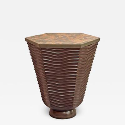 David Ebner David N Ebner Studio Craftsman Sculptural Masterpiece Wave Side Table
