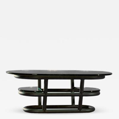 David Ebner David N Ebner Three Tier Tubular Metal Coffee Table