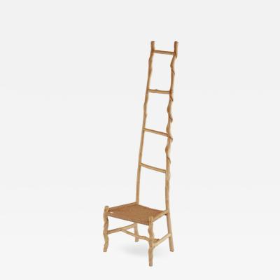 David Ebner David N Ebner Twisted Stick Ladder Back Chair