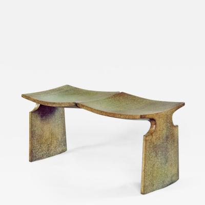 David Ebner Patinated Bronze MFA Boston Bench by David Ebner