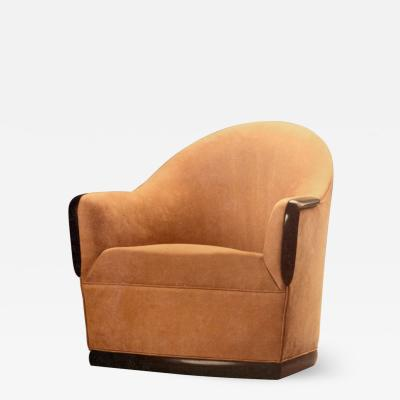 David Ebner Swivel Barrel Chair by American Studio Craft Artist David N Ebner