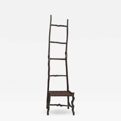 David Ebner Twisted Stick Ladder Back Chair by David Ebner