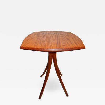 David Ebner Vintage David N Ebner Red Oak Side Table