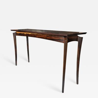 David Ebner Ziricote Hall or Console Table by David N Ebner