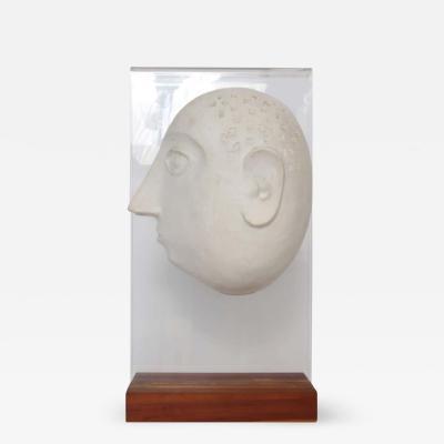 David Gill David Gil for Bennington Pottery Male Portrait Ceramic Sculpture 1960s