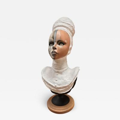 David Gilmore Vintage Bust of a Young Women Signed David Gilmore USA 2019