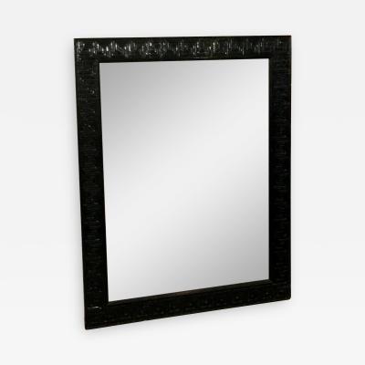 David Hicks Hollywood Regency Mid Century Modern Lacquered Wood Greek Key Mirror