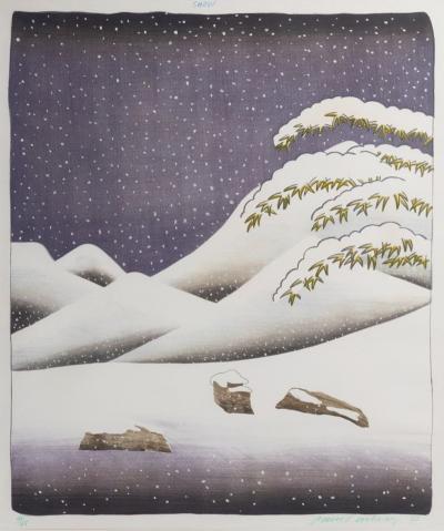David Hockney b 1937 Snow