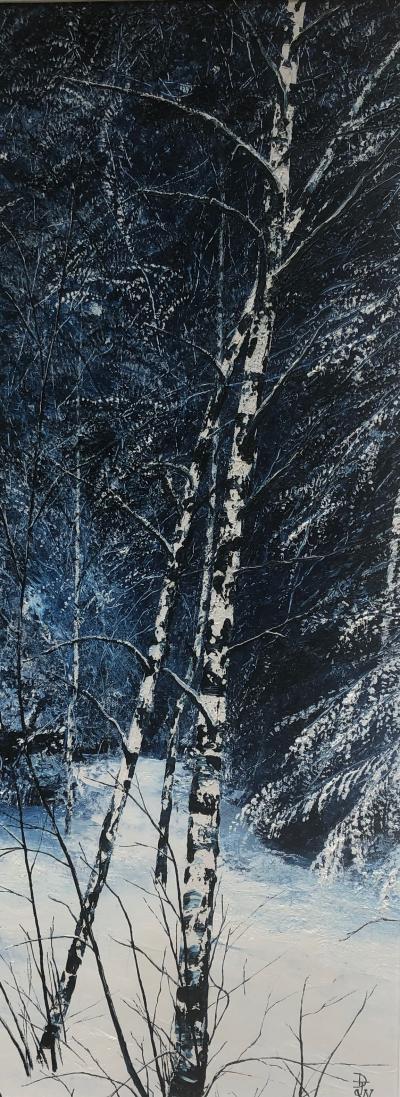 David J Williams Snow Birches