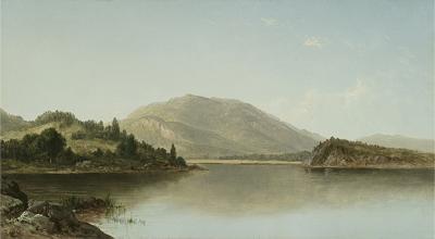 David Johnson Bear Mountain and Iona Island on the Hudson River