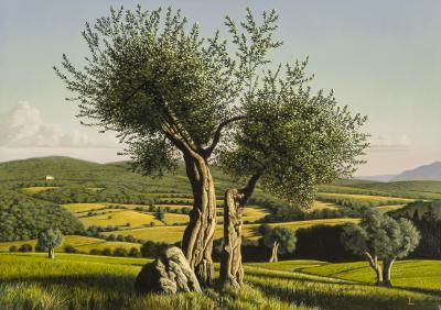 David Ligare Italian Landscape Umbria