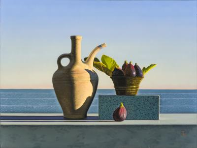 David Ligare Still Life with Figs and Egyptian Pot