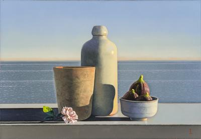 David Ligare Still Life with Figs and Rose