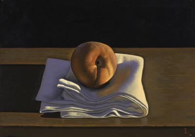 David Ligare Still Life with Peach on Cloth