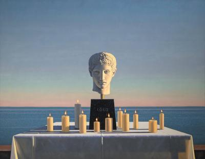 David Ligare Still Life with Polykleitian Head and Candles Idea