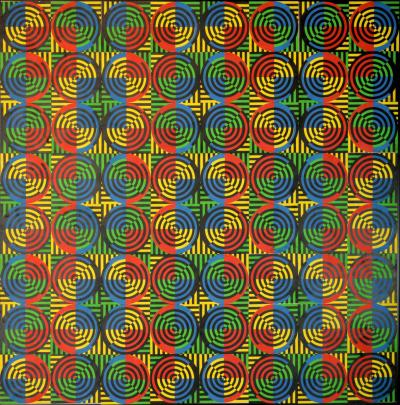 David Lipszyc Kinetic painting by David Lipszyc 1969