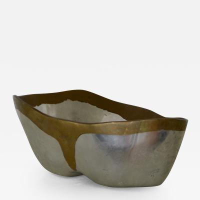 David Marshall Brutalist Brass and Aluminum Bowl