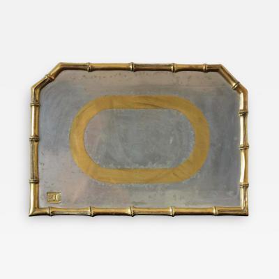 David Marshall Rare Cast Aluminum and Brass Brutalist Tray by David Marshall Spain 1970s