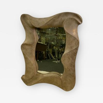 David Marshall SCULPTURAL MODERNIST MIRROR BY DAVID MARSHALL