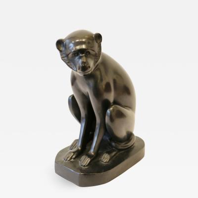 David Mesly Bronze Monkey Sculpture by David Mesly