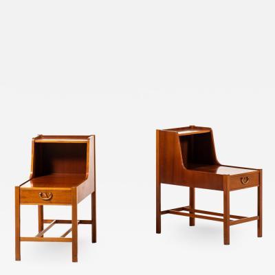David Rosen Bedside Side Tables Produced by Nordiska Kompaniet