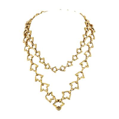 David Webb DAVID WEBB 18K YELLOW GOLD VINTAGE CHAIN LINK NECKLACE