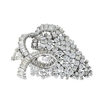 David Webb DAVID WEBB 1960S IMPRESSIVE 25 CARAT DIAMOND CLUSTER BROOCH