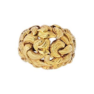 David Webb DAVID WEBB 1970S 18K YELLOW GOLD SWIRL RING