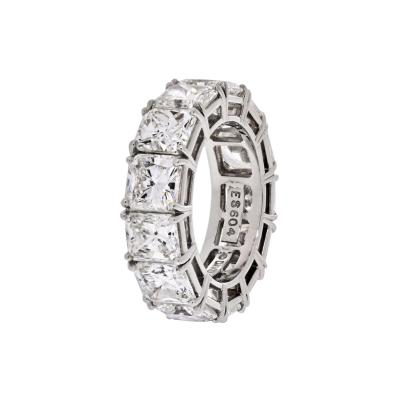 David Webb DAVID WEBB PLATINUM RADIANT CUT DIAMOND 12 92 CARAT ETERNITY BAND