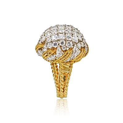 David Webb David Webb 18K Gold Diamond Pave Bombe Ring