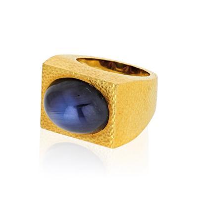 David Webb David Webb 18K Gold Star Sapphires Ring