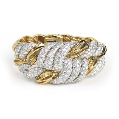 David Webb David Webb Diamond Gold Bracelet