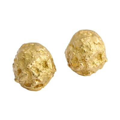 David Webb David Webb Gold Nugget Earrings