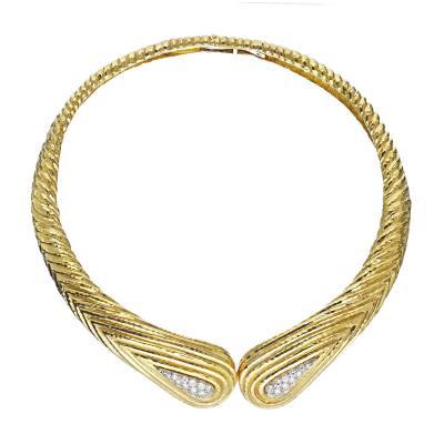 David Webb David Webb Hinge Gold Diamond Necklace