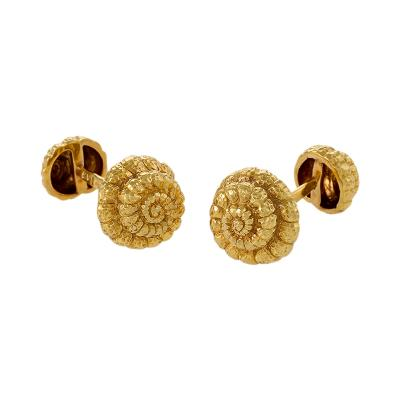 David Webb David Webb Late 20th Century Gold Shell Cuff Links