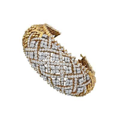 David Webb David Webb Openwork 35 Carat Diamond Large Bracelet