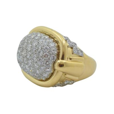 David Webb David Webb Pave Diamond Gold Ring