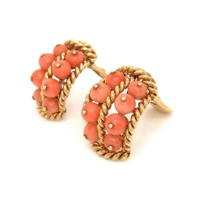 David Webb David Webb Pink Coral Shrimp Earrings