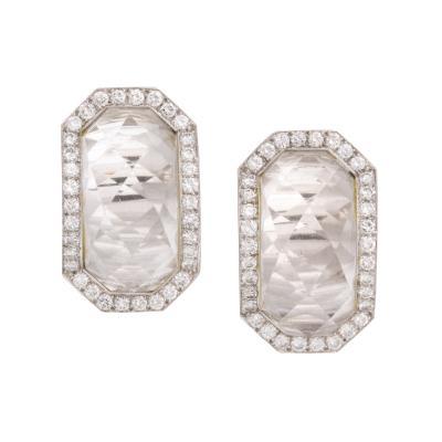 David Webb David Webb Rock Crystal Diamond Earrings