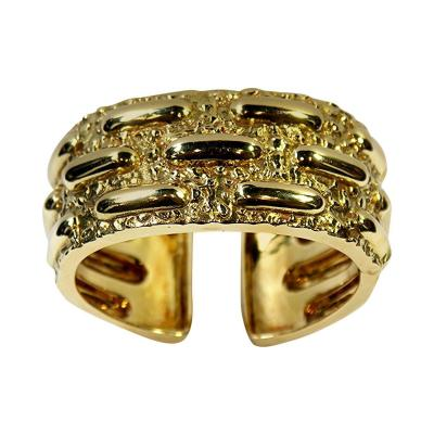 David Webb David Webb Textured Gold Cuff Bracelet