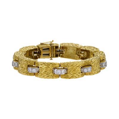 David Webb Gold Bracelet with Diamond by David Webb