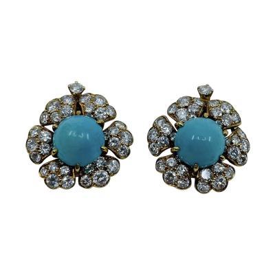 David Webb Turquoise David Webb Earrings