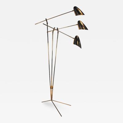 David Weeks David Weeks Model 303 Articulated Brass Floor Lamp